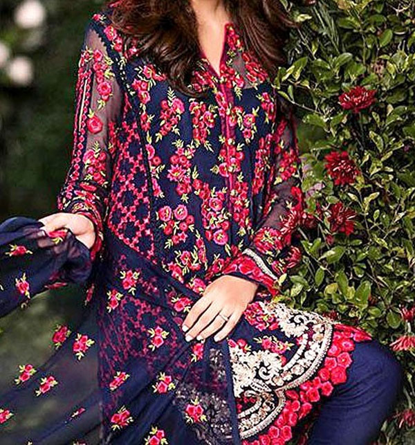 Designer Embroidered Chiffon Suit Price in Pakistan