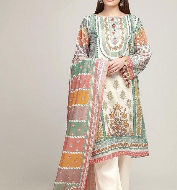 124b6471b6 Lawn Embroidery Dress Chiffon Dupatta (DRL-279) (UnStitched) Online  Shopping & Price in Pakistan