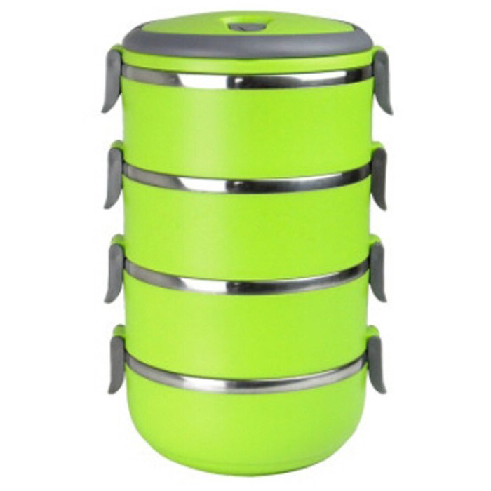 Easy Lock Stainless Steel Lunch Box 4 Layers (LB-03) Price in Pakistan