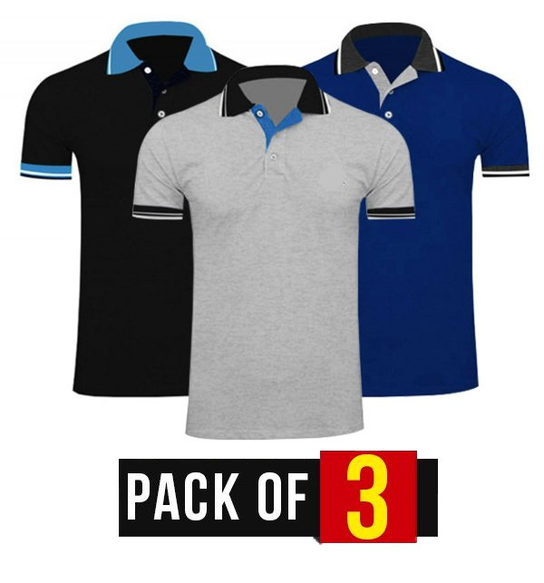 Pack of 3 Men's Polo T-Shirts