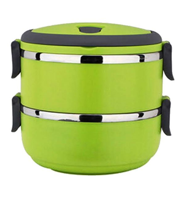 Easy Lock Stainless Steel Lunch Box 2 Layers (LB-02) Gallery Image 1