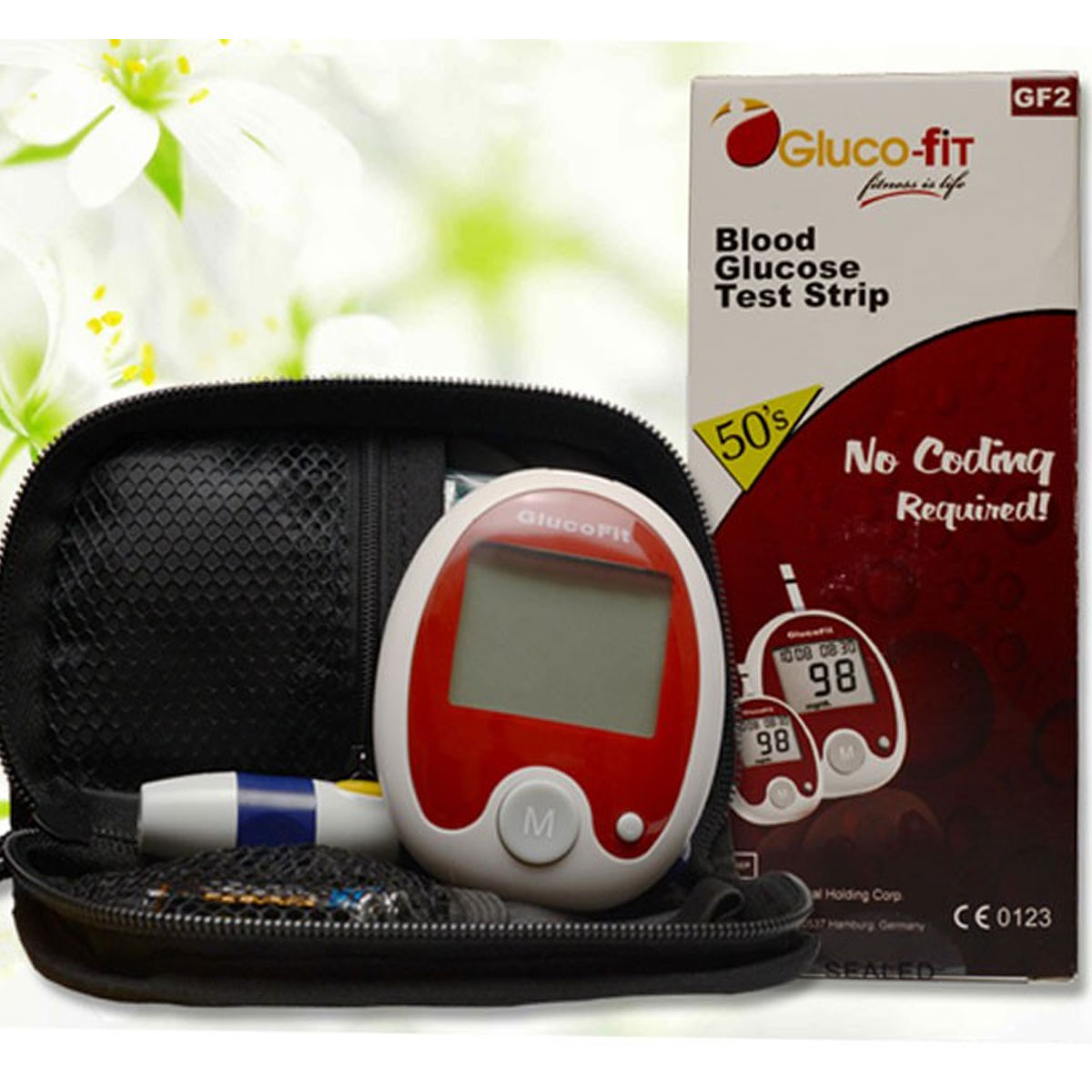Gluco Fit Blood Glucose Monitor With 10 Test Strips Gallery Image 1