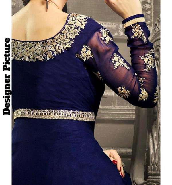 Indian Embroidered Chiffon Frock (Unstitched) (CHI-33) Gallery Image 1