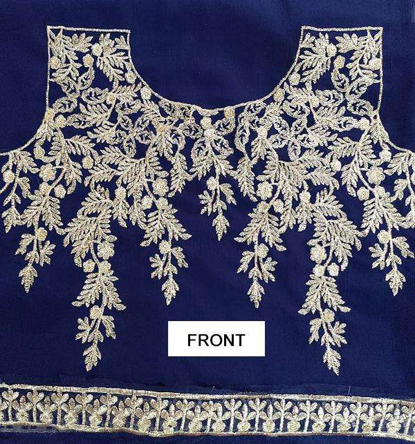 Indian Embroidered Chiffon Frock (Unstitched) (CHI-33) Gallery Image 3
