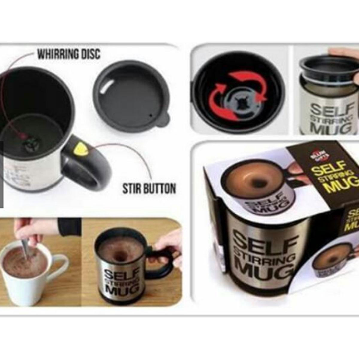 Self Stirring Coffee Cup/Mug Stainless Steel Gallery Image 1