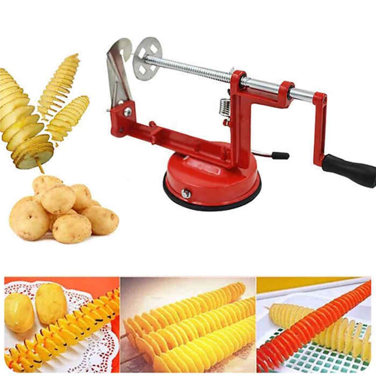 Spiral Potato Slicer Stainless Steel Potato French Fry Cutter Gallery Image 1