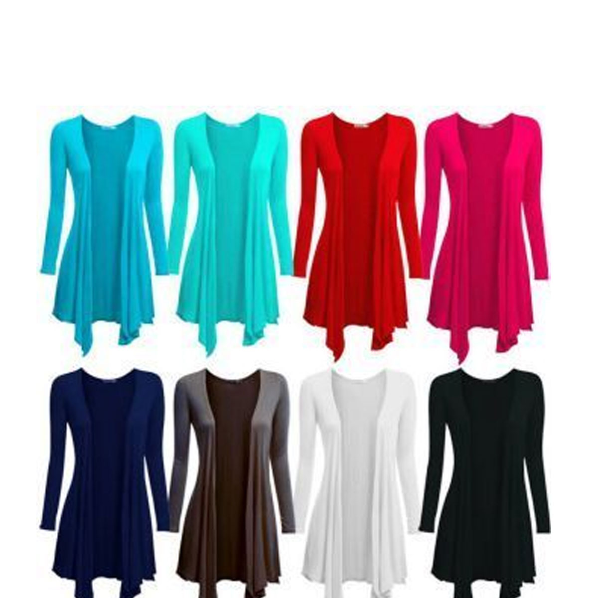 Pack of 5 Women's Jersey Cotton Shrug (Viscose Fabric) Gallery Image 1