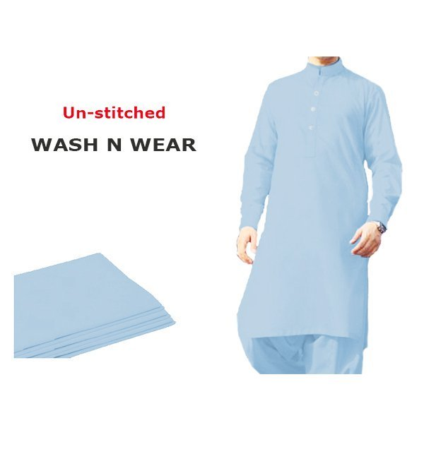 Pack of 3 - Best Quilty Wash n Wear Men's Kameez Shalwar Unstitched (MSK-35), (MSK-25) & (MSK-24) Gallery Image 2