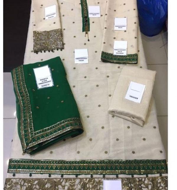 Embroidered Masoori Dress With Chiffon Dupatta (CHI-184) Gallery Image 1