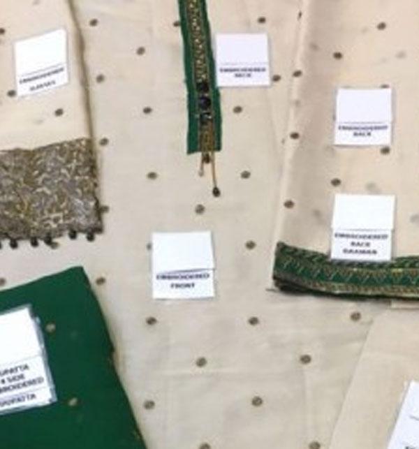 Embroidered Masoori Dress With Chiffon Dupatta (CHI-184) Gallery Image 2