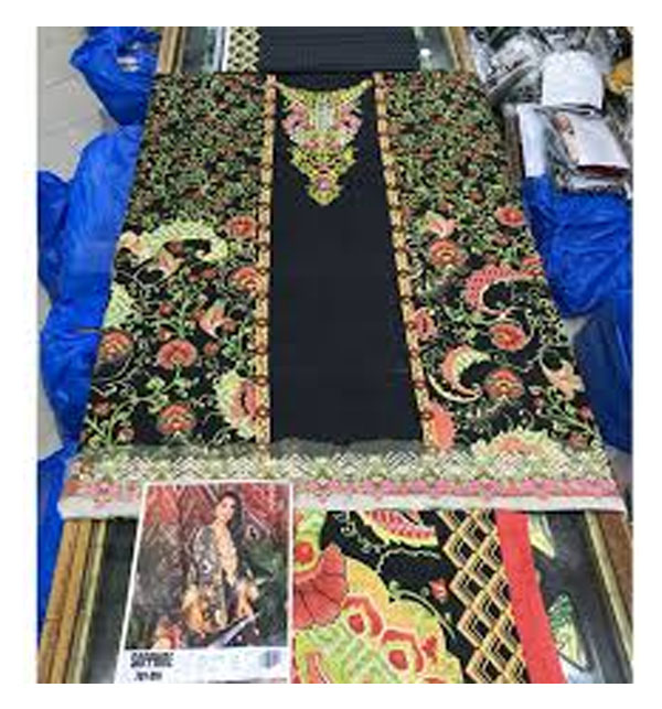 Khaddar Embroidery Suit With Wool Shawl Dupatta UnStitched (KD-25) Gallery Image 1