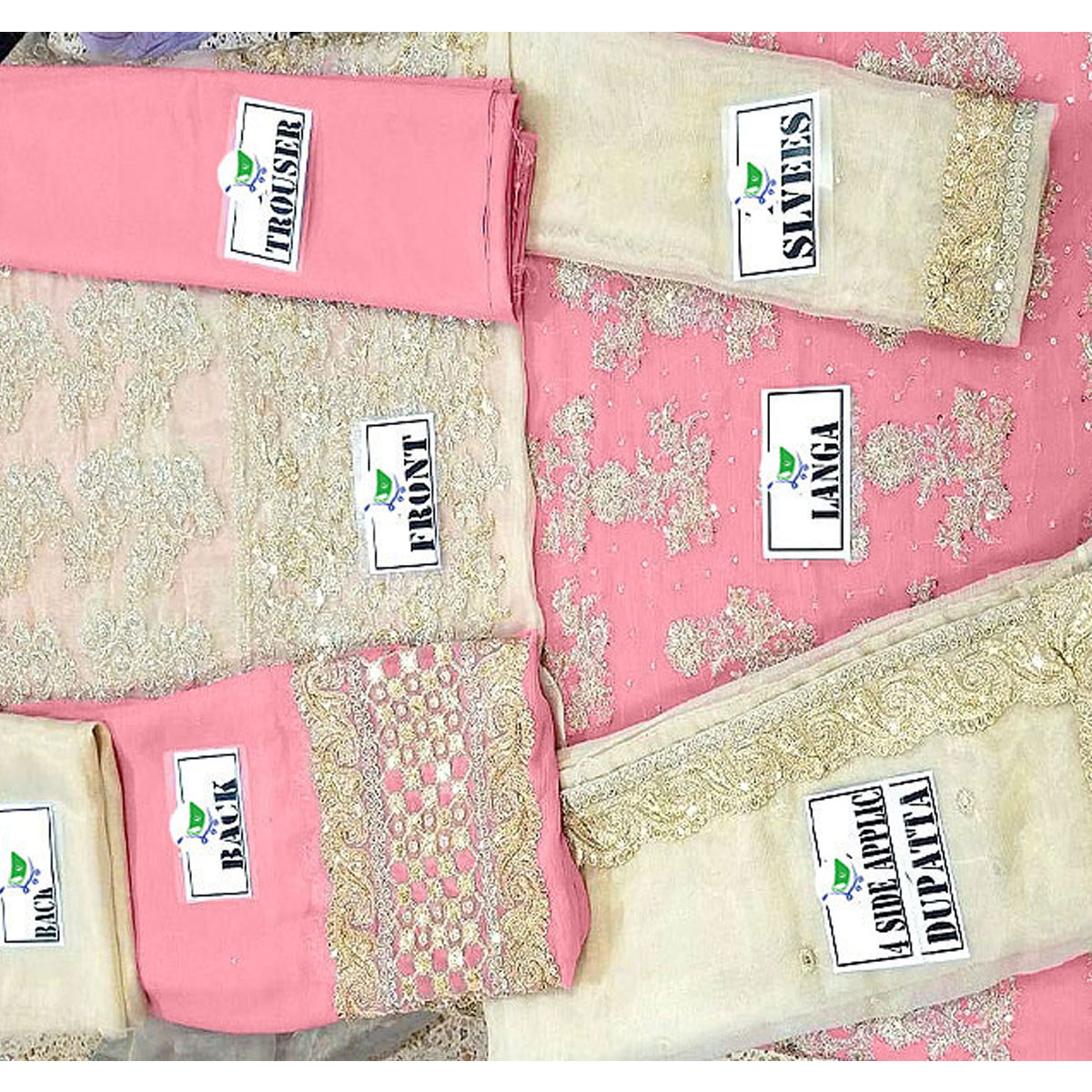 Heavy Embroidery Masoori Chiffon Dress Heavy Garara Unstitched 2019/2020 (CHI-186) Gallery Image 3
