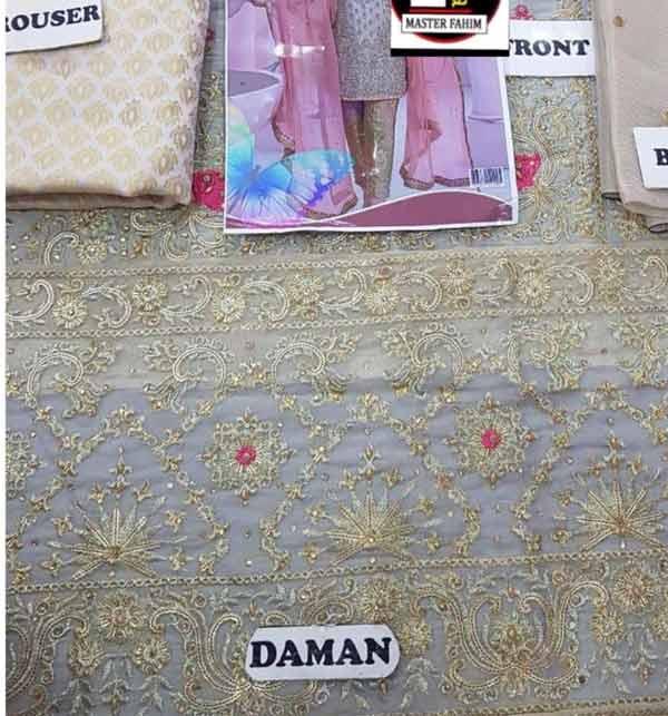 Masoori Dress with Jamawar Trouser & Chiffon Embroidered Dupatta (CHI-248) (Unstitched) Gallery Image 2