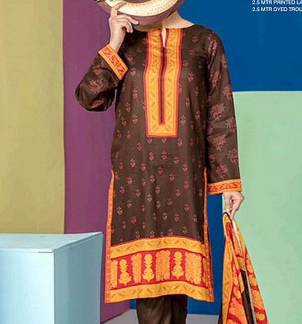 VS Classic Lawn Dress 2019 With Lawn Dupatta (VS-108A) (Unstitched) Gallery Image 1