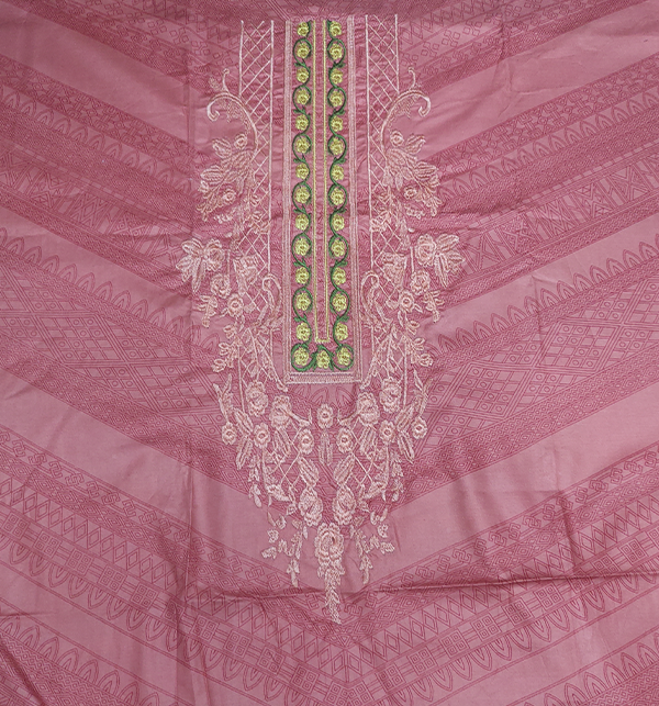 Linen Embroidered Dress With Wool Shawl (Unstitched) (LN-63) Gallery Image 2