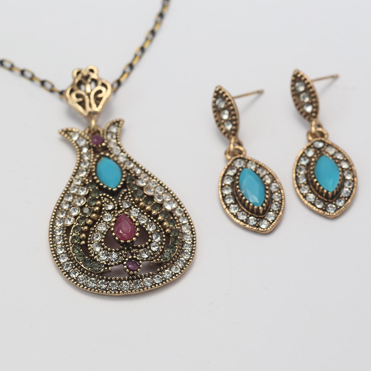Beautiful Antique Turkish Designs Necklace Set For Ladies (PS-134) Gallery Image 1