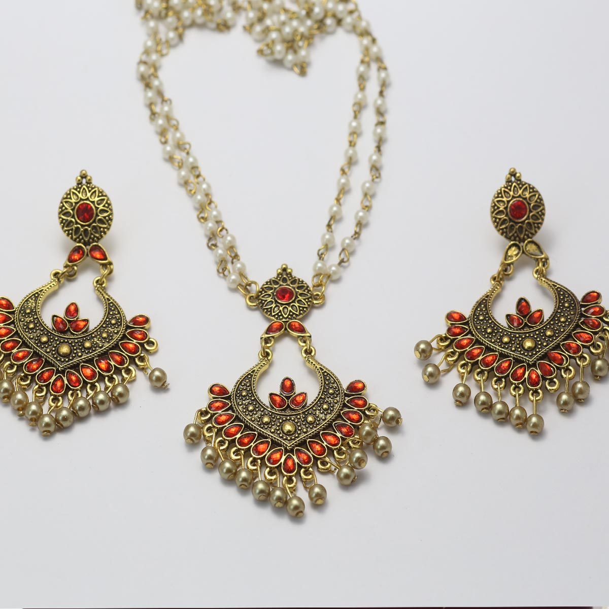 Artificial Antique Turkish Necklace Set - (PS-135) Gallery Image 1