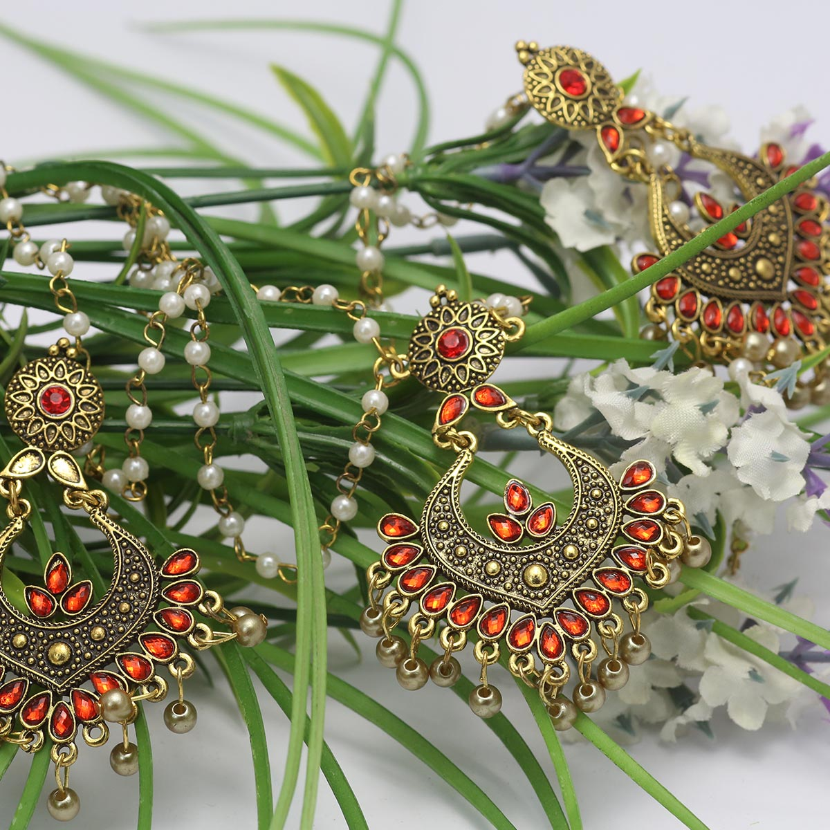 Artificial Antique Turkish Necklace Set - (PS-135) Gallery Image 2