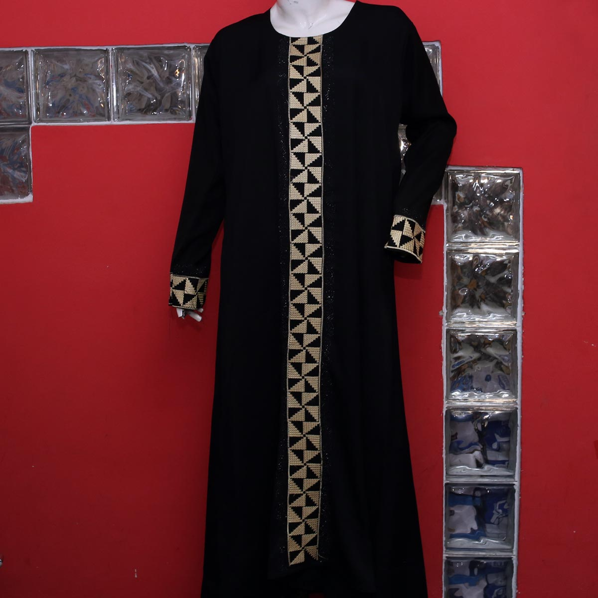Nida Fabric Embroidery Abaya 2020 for Women With Scarf - (AB-55) Gallery Image 1