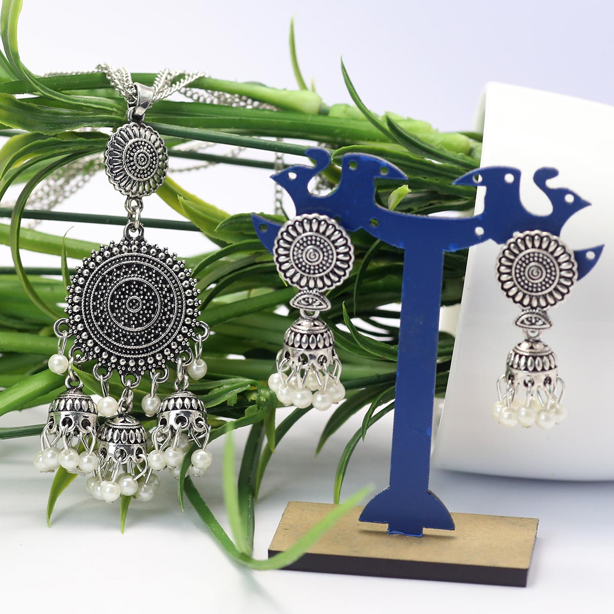 Latest Silver Latest Mala Necklace - (PS-148) Gallery Image 1