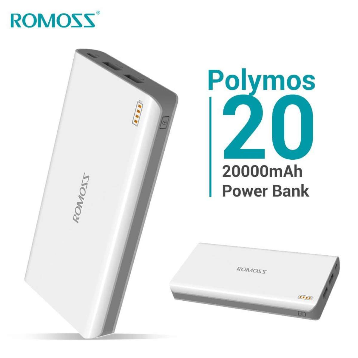 Original ROMOSS Polymos 20 Dual USB 20000mAh Gallery Image 2