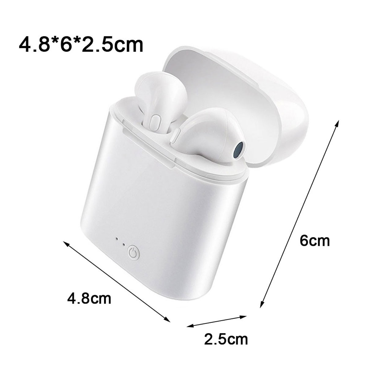 i7 Mini Wireless Bluetooth Earphone Stereo Binaural Earbuds with Mic - White	30 Gallery Image 3