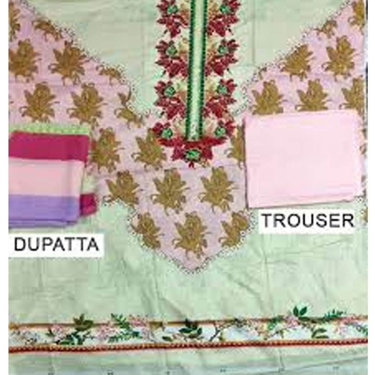 Pack OF 2 - Designer Lawn Embroidered Dress With Chiffon Dupatta (DRL-346) & (DRL-324) Gallery Image 2