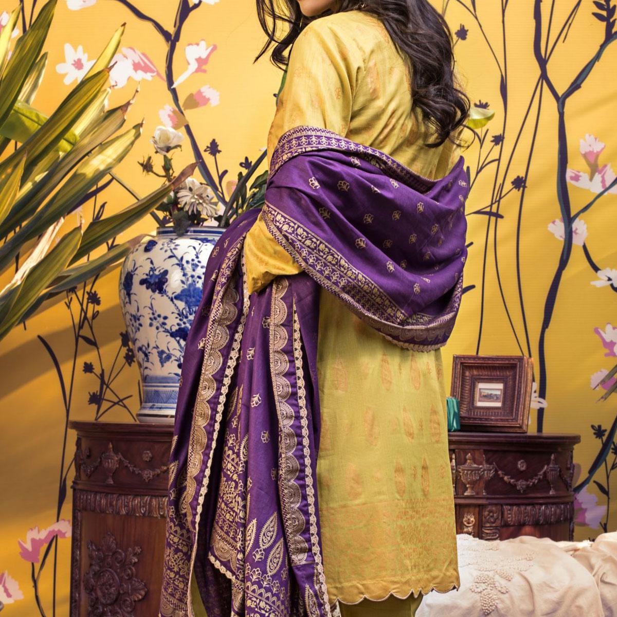 Banarsi Lawn Printed Collection 3 Pec Suit BY Z.S Textile (RBP-03) (Unstitched) Gallery Image 1