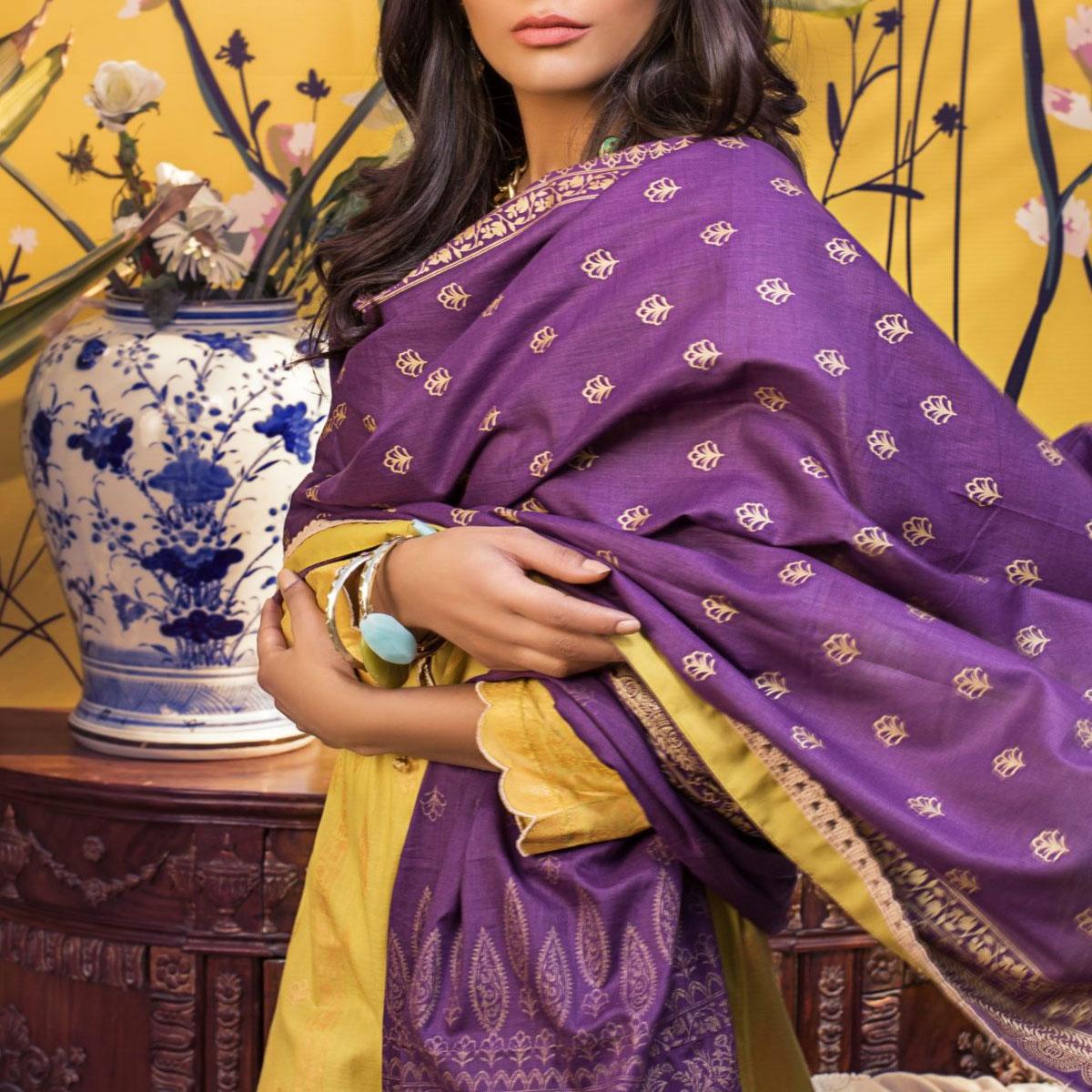 Banarsi Lawn Printed Collection 3 Pec Suit BY Z.S Textile (RBP-03) (Unstitched) Gallery Image 2