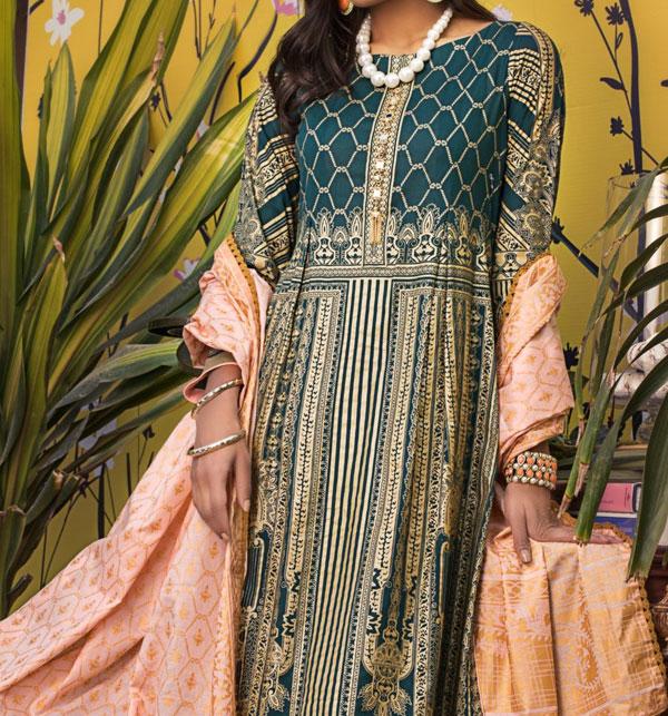 Banarsi Lawn Printed Collection 3 Pec Suit BY Z.S Textile (RBP-07) (Unstitched) Gallery Image 1
