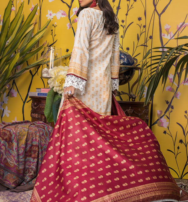 Banarsi Lawn Block Printed Collection 3 Pec Suit BY Z.S Textile (RBP-08) (Unstitched) Gallery Image 2
