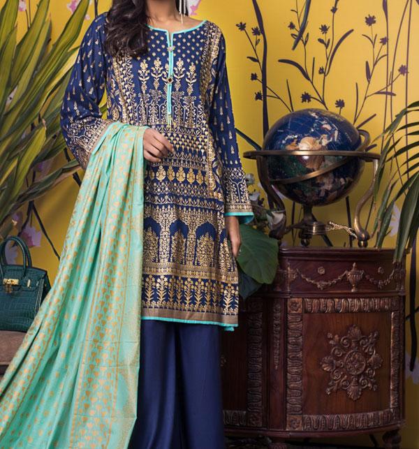 Banarsi Lawn Printed Collection 3 Pec Suit BY Z.S Textile (RBP-09) (Unstitched) Gallery Image 1