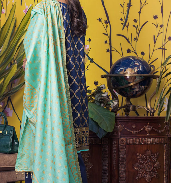 Banarsi Lawn Printed Collection 3 Pec Suit BY Z.S Textile (RBP-09) (Unstitched) Gallery Image 2