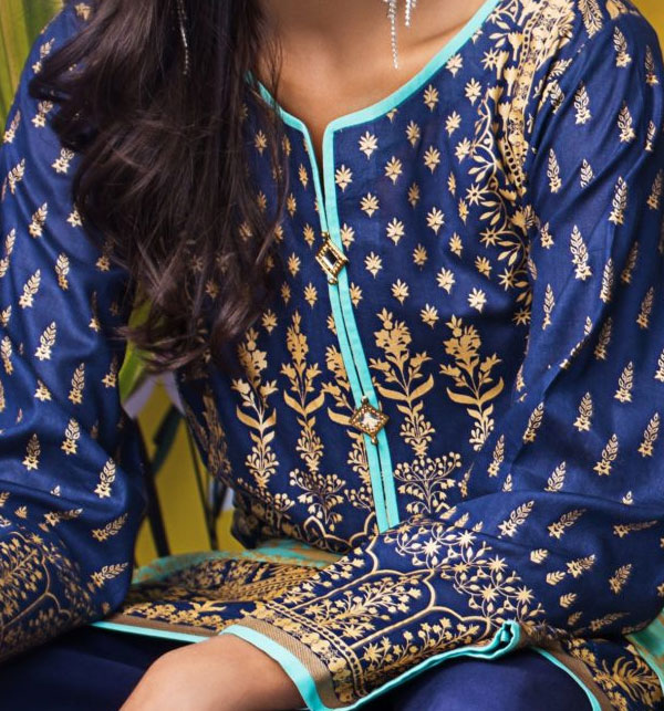 Banarsi Lawn Printed Collection 3 Pec Suit BY Z.S Textile (RBP-09) (Unstitched) Gallery Image 3