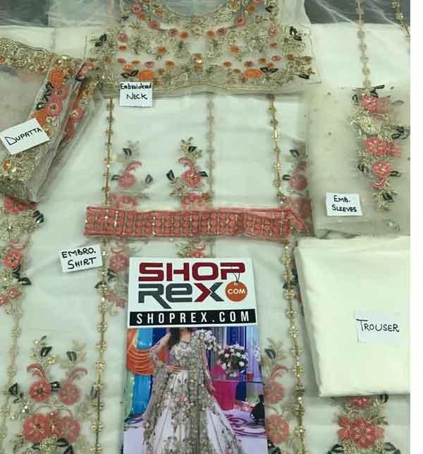 Stylish Full Maxi Net Bridal Dresses 2020 - (UnStitched) (CHI-350) Gallery Image 1