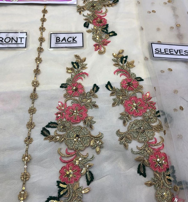Stylish Full Maxi Net Bridal Dresses 2020 - (UnStitched) (CHI-350) Gallery Image 2