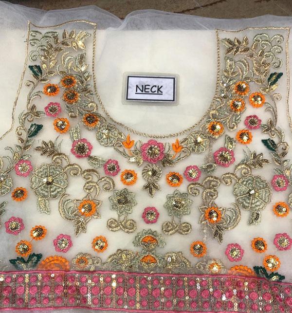 Stylish Full Maxi Net Bridal Dresses 2020 - (UnStitched) (CHI-350) Gallery Image 3