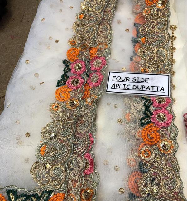Stylish Full Maxi Net Bridal Dresses 2020 - (UnStitched) (CHI-350) Gallery Image 4