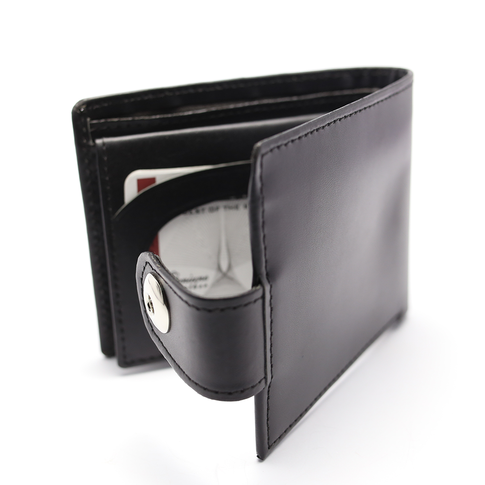 Men 100% Leather Casual Man Wallets Purse Standard Card Holders (W3) Gallery Image 1
