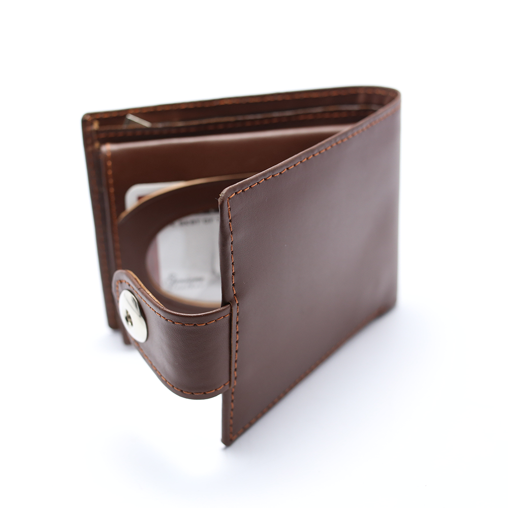 Men 100% Leather Casual Man Wallets Purse Standard Card Holders (W3) Gallery Image 2