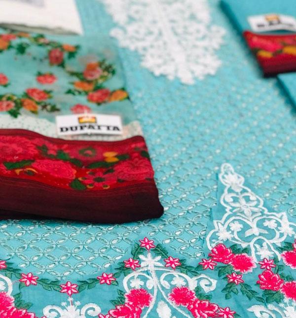 Eid Embroidered Chikankari Unstitched 3 Piece Suit  (Unstitched ) (DRL-522) Gallery Image 2