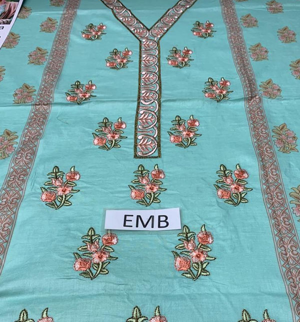 Embroidered Lawn Dress with Chiffon Dupatta UnStitched (DRL-585) Gallery Image 2