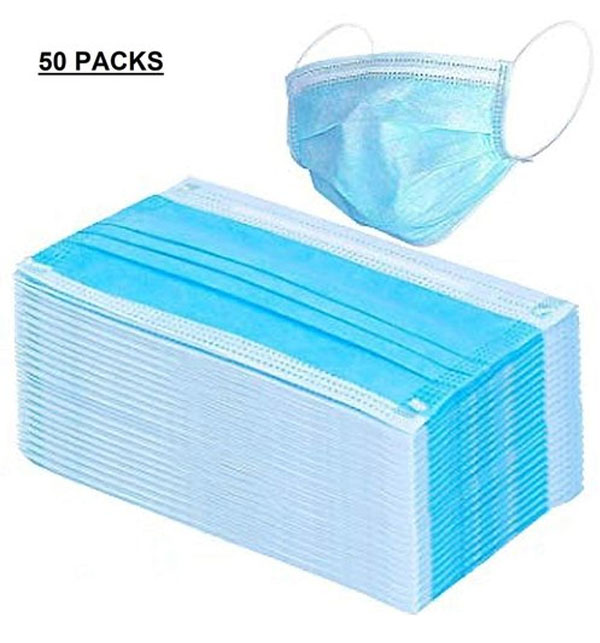 PACK OF 50 SURGICAL Face Mask 3ply With Nose Pin Gallery Image 1