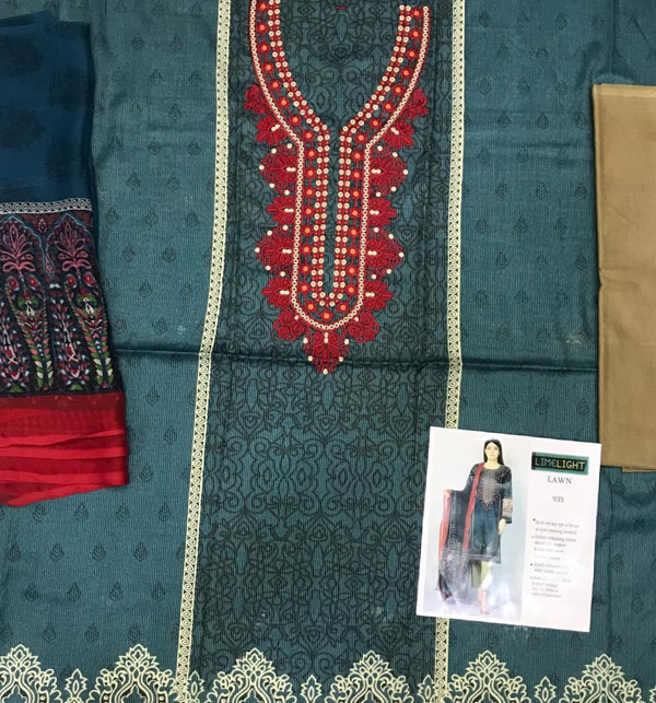Masoori Lawn Dress with Chiffon Dupatta  UnStitched (DRL-629) Gallery Image 1