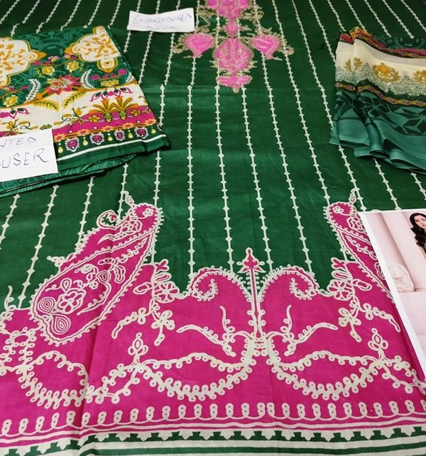 Pack OF 2 Hit Latest Lawn Embroidery Dress 2020 2021  (DRL-418) & (DRL-573) Gallery Image 2