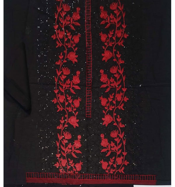 Lawn 2-Pcs Sequins Heavy Embroidered Dress 2020 (Unsitched)  UnStitched (DRL-642) Gallery Image 1