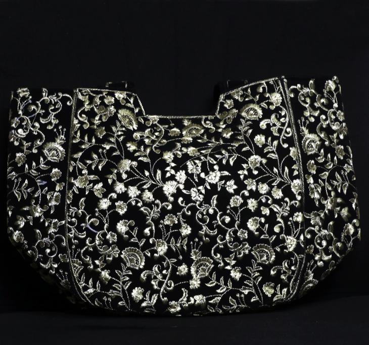 Black Women Handbag Embroidered (HB-56) Gallery Image 1