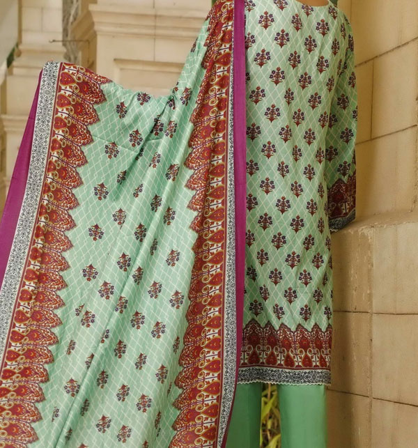 New VS Classic Printed Lawn Collection 2020 With Lawn Dupatta 20-116B Gallery Image 1