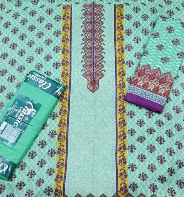 New VS Classic Printed Lawn Collection 2020 With Lawn Dupatta 20-116B Gallery Image 2