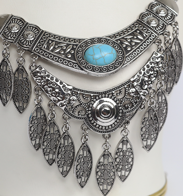 Stylish Antique Turkish Designs Necklace With Earring Set (PS-178) Gallery Image 1